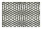Ambesonne Oriental Pet Mat for Food and Water, Timeless Ornate Pattern with Curved Stripes Abstract Middle Eastern Motifs, Rectangle Non-Slip Rubber Mat for Dogs and Cats, Slate Blue Beige