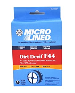 Dirt Devil Vacuum Cleaner F44 HEPA Filter; Replaces Dirt Devil Part # 304019001 (3-04019-001) & Fits Quick Lite Models UD20015 UD20020 UD20025