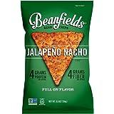Beanfields Bean Chips, High Protein and Fiber, Gluten Free, Vegan Snack, Jalapeno Nacho, 5.5 Ounce