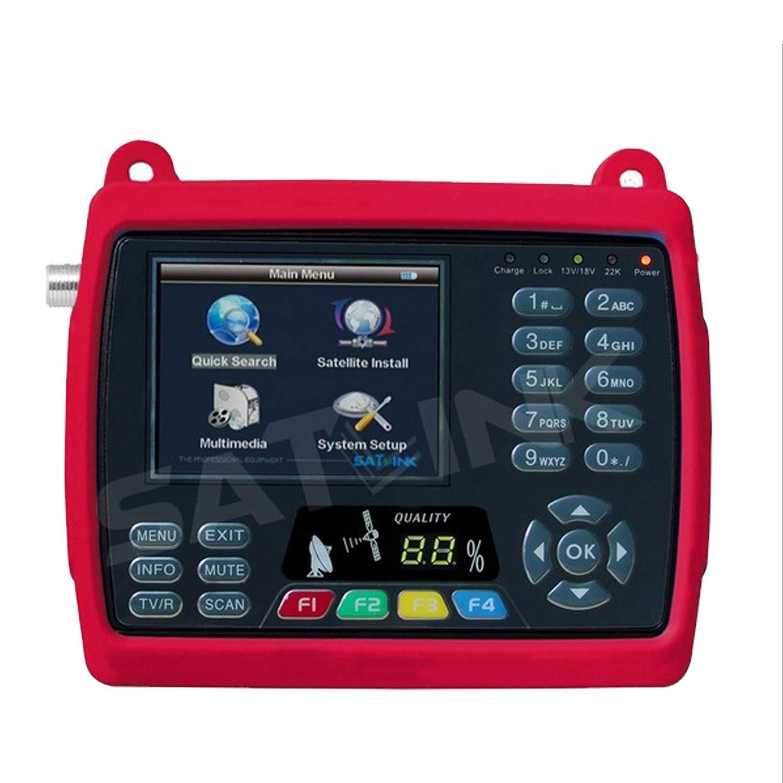 SATLINK WS-6950 DVB-S FTA Digital Satellite Finder Meter Satellite TV Received, Support QPSK 3.5'' TFT LCD by SatLink