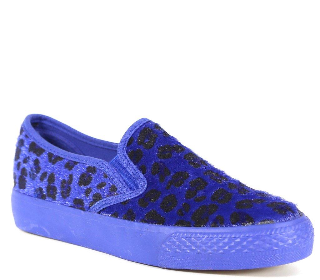 Bucco Pony Womens Fashion 100% Vegan Friendly Slip-On Sneakers B00OZTVSYE 6 B(M) US|Blue