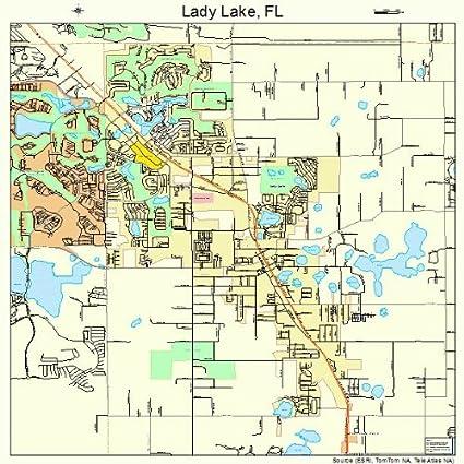 Amazon.com: Large Street & Road Map of Lady Lake, Florida FL ...