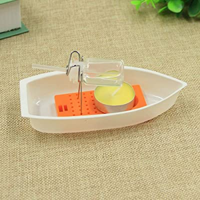N2 jikaixiang DIY Assembly Kit Candle Power Steam Boat Scinece Experiment Educational Toy DIY Cartoon Animal Art Craft Kid Toy: Home & Kitchen