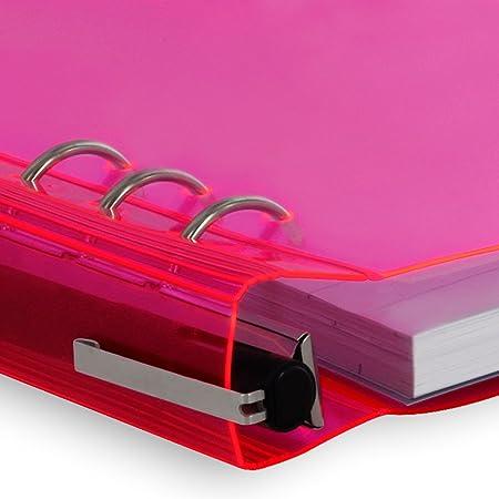 Filofax ClipBook - Cuaderno de anillas, A5, color rosa: Amazon.es: Oficina y papelería