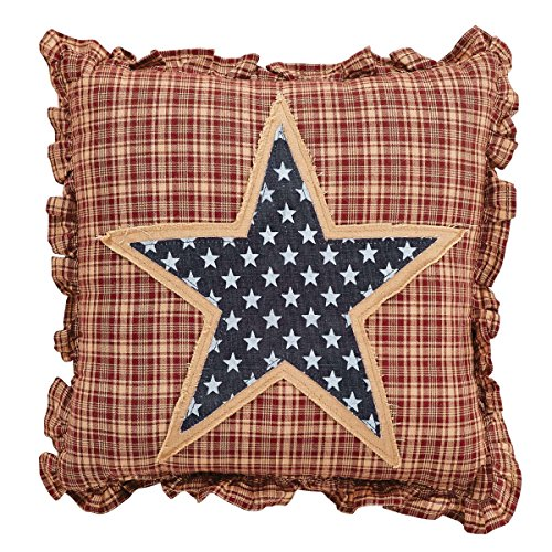 VHC Brands 24984 Independence Star Pillow 12x12 from VHC Brands