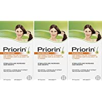 Priorin Caps 60's - Pack of 3 - Sealed Manufacturer Case Pack of 180 Capsules