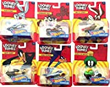 Looney Tunes Hot Wheels Cartoon Character Cars Bugs Bunny / Daffy Duck / Roadrunner / Wile E. Coyote / Marvin the Martian / Tazmanian Devil Car Set