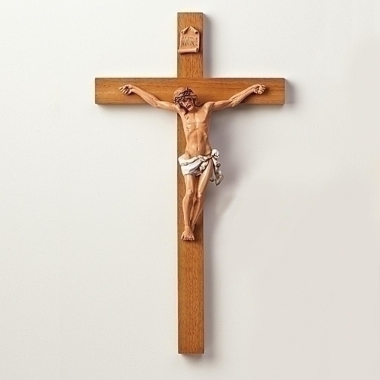Fontanini 21'' Religious Wooden Crucifix Wall Cross #0282