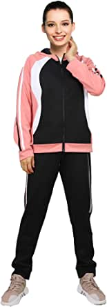 2 Piece Womens Sweatsuits Sets Zip Up Hoodie Tracksuit Sweatshirt Jogging Sweatpants Outfits Athletic Clothing