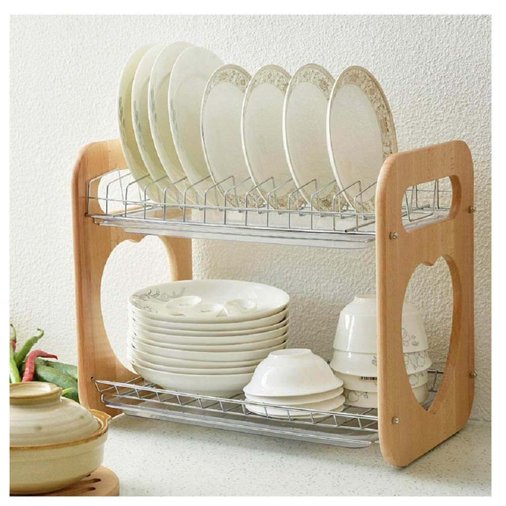 OUTOS Double Drain Dish Rack