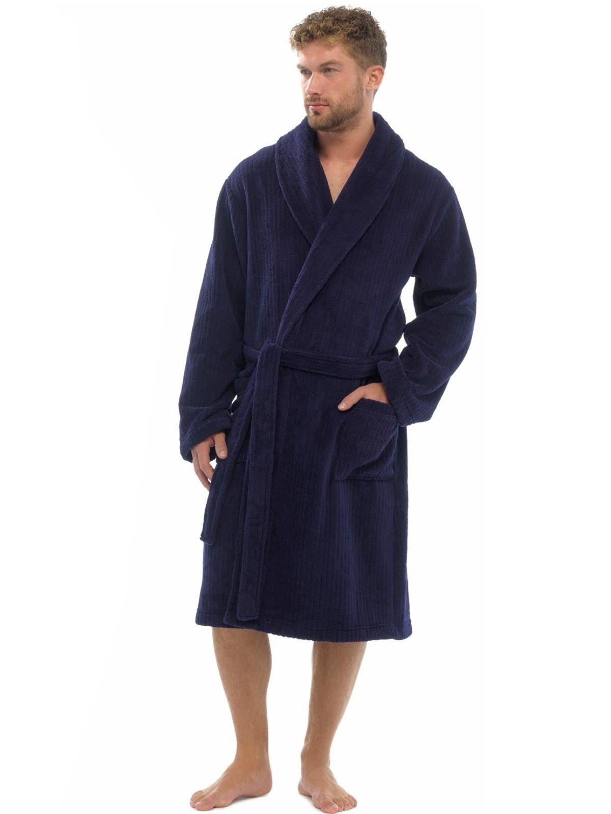 Cómoda bata para hombre de suave y cómoda franela, ropa de noche