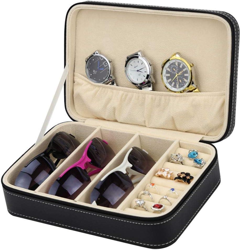 Cajas Relojes Hombre Caja de almacenamiento multifuncional de joyería de alta gama Caja de almacenamiento de joyería Caja de almacenamiento de gafas de cuero de PU Estuche Relojero Vitrina Hecho: Amazon.es: Hogar