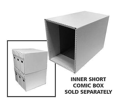 (2) de casas de cómics de corto – cartón corrugado caja de almacenaje –