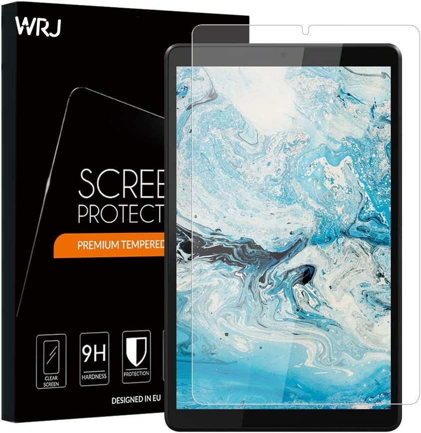 [3-Pack] WRJ Screen Protector for Lenovo Tab M8 8 Inch,HD Anti-Scratch Anti-Fingerprint No-Bubble 9H Hardness Tempered Glass, Lifetime Replacement Warranty