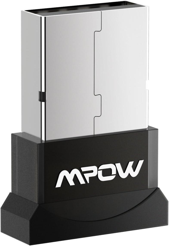 Mpow - Adaptador Bluetooth 4.0 USB Dongle, Receptor transmisor Bluetooth Compatible con Windows 10, 8, 7, Vista XP 32/64 bits para Altavoz Bluetooth, Auriculares, Teclado, ratón y más, Plug and Play