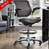 Hydraulic Drafting Stool With Arms Guitar Chair Rolling Architecture Adjustable Office Chair On Wheels Counter Height Mesh Back Ergonomic Padded Studio Reception Desk Chair Comfy And eBook By NAKSHOP