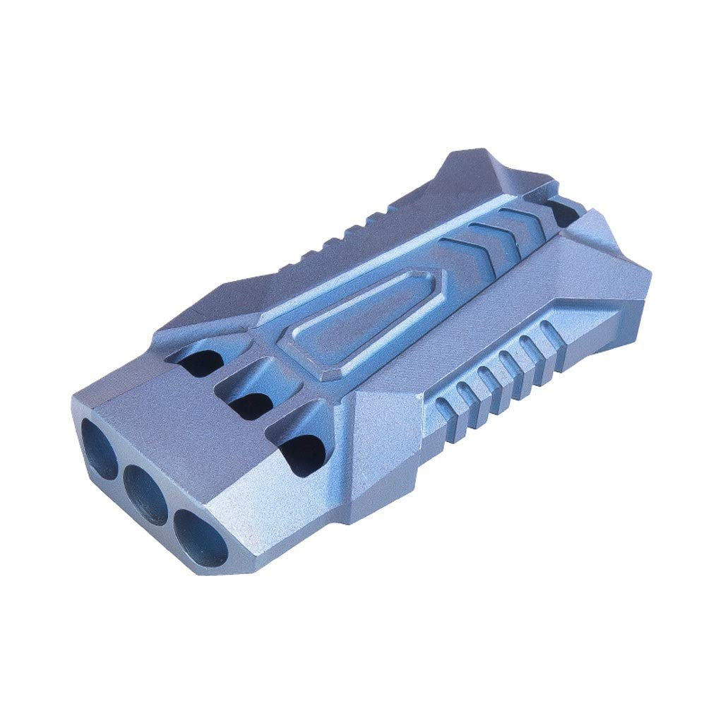 LNYJ Outdoor Camping Three Tubes TC4 Titanium Alloy Survival Whistle high Frequency Sonic Boom Whistle Survival Whistle Referee Training Metal Game Whistle (Color : Blue)