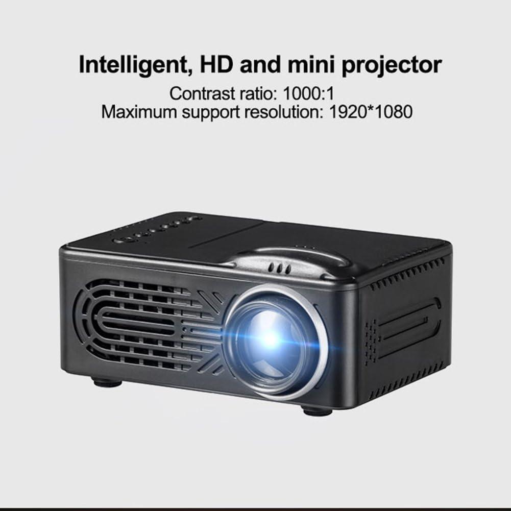 Mini proyector portátil, Cinema Movie TV en el hogar,con LED 1080P ...