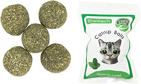 Amazon Com Catnip Toys Ball For Cats By Shelltech Compressed