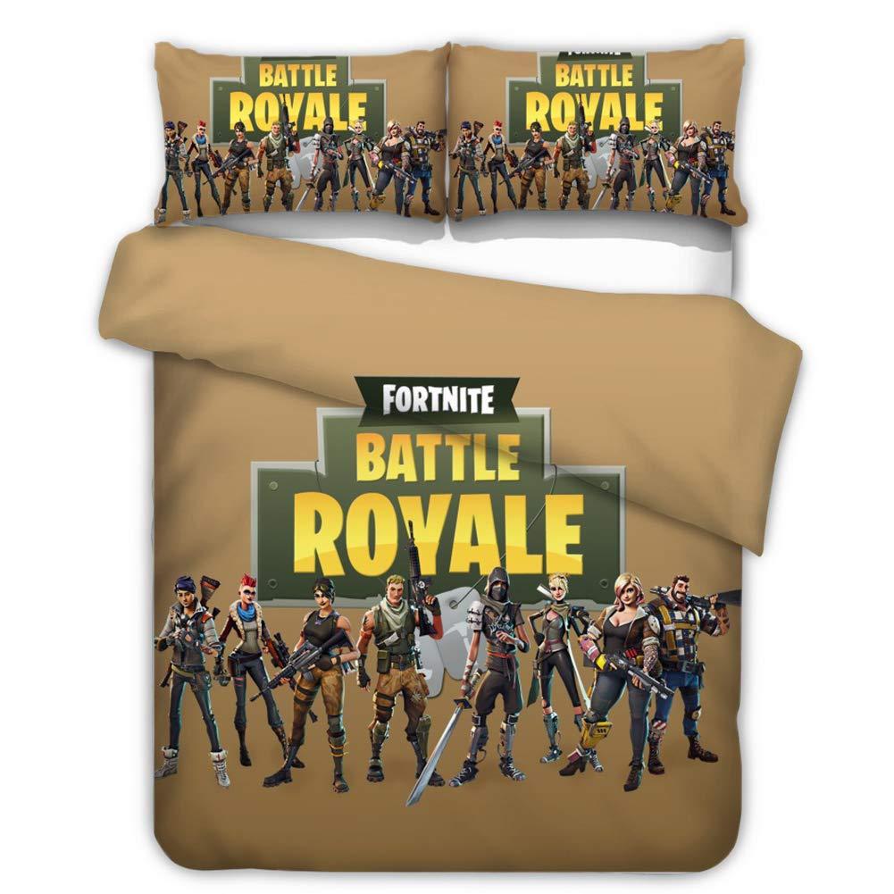 3D Game Battle Royale Bedding Sets 2PC//3PC  Fortnite Duvet Cover /& Pillowcase */&