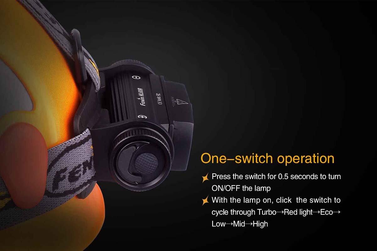 Black Open Air Brands HL60XLBK Fenix HL60R 950 Lumens Headlamp