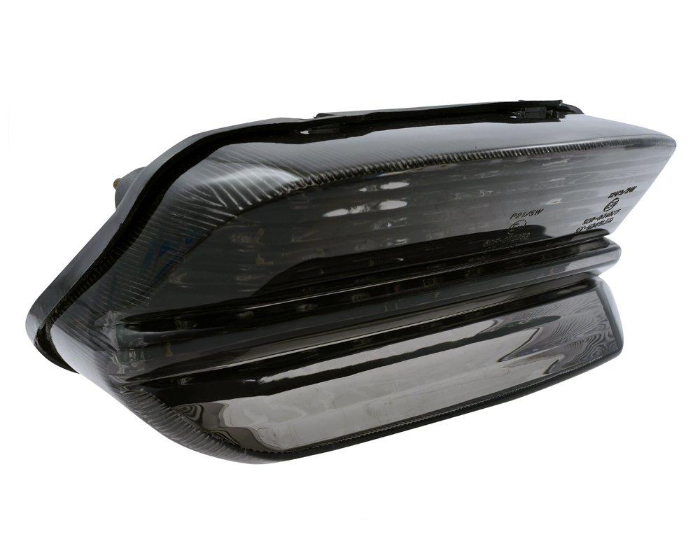 Feu arri/ère LED de moto avec verre teint/é Convient pour Yamaha XJR 1300//à partir de 1999