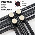 ANY-ANGLE Multi-Angle Measuring Ruler: FULL-METAL Angle-izer Template Tool Made Of Premium Aluminum Alloy – Perfect For Handymen, Builders, Craftsmen, Carpenters, Roofers, Tilers, DIY-ers & GREAT GIFT