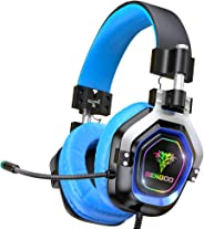 BENGOO Gaming Headset for PS4, Xbox One, PC,【4 Speaker Drivers】 Over Ear Headphones with 45° Adjustable Earmuff, 720° Noise