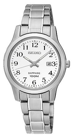 Seiko Reloj Analogico para Mujer de Cuarzo con Correa en Acero Inoxidable SXDG89P1: Amazon.es: Relojes