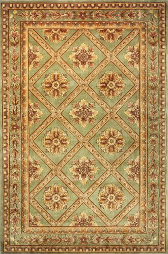 Traditional Hand Tufted Sage (Momeni Rugs MAISOMA-11SAG3656 Maison Collection, 100% Wool Hand Carved & Hand Tufted Traditional Area Rug, 3'6