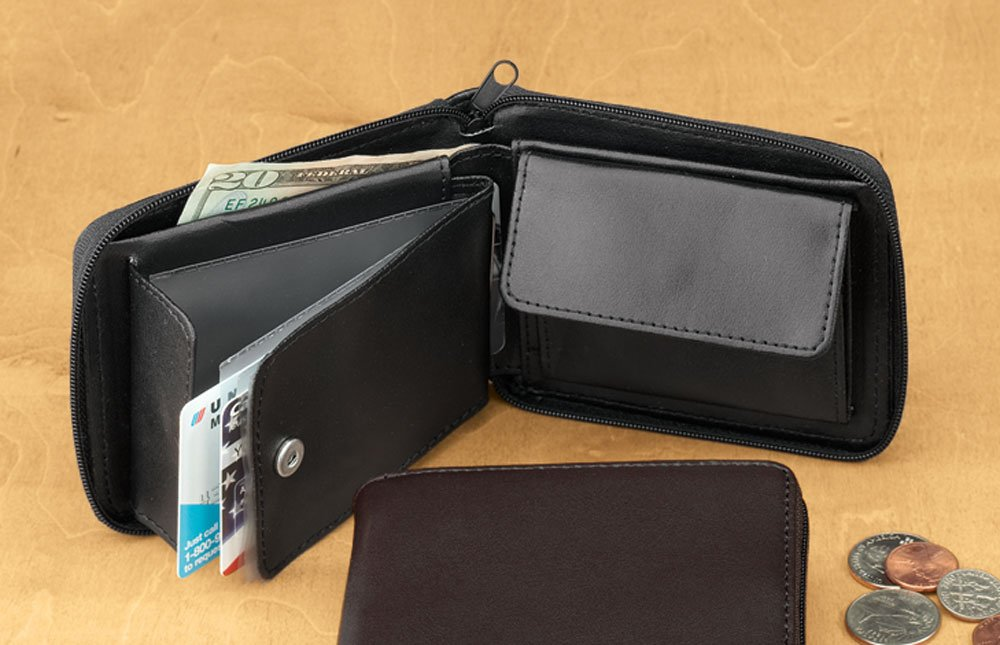 Personalized Leather Zipper Wallet by Miles Kimball (Image #2)
