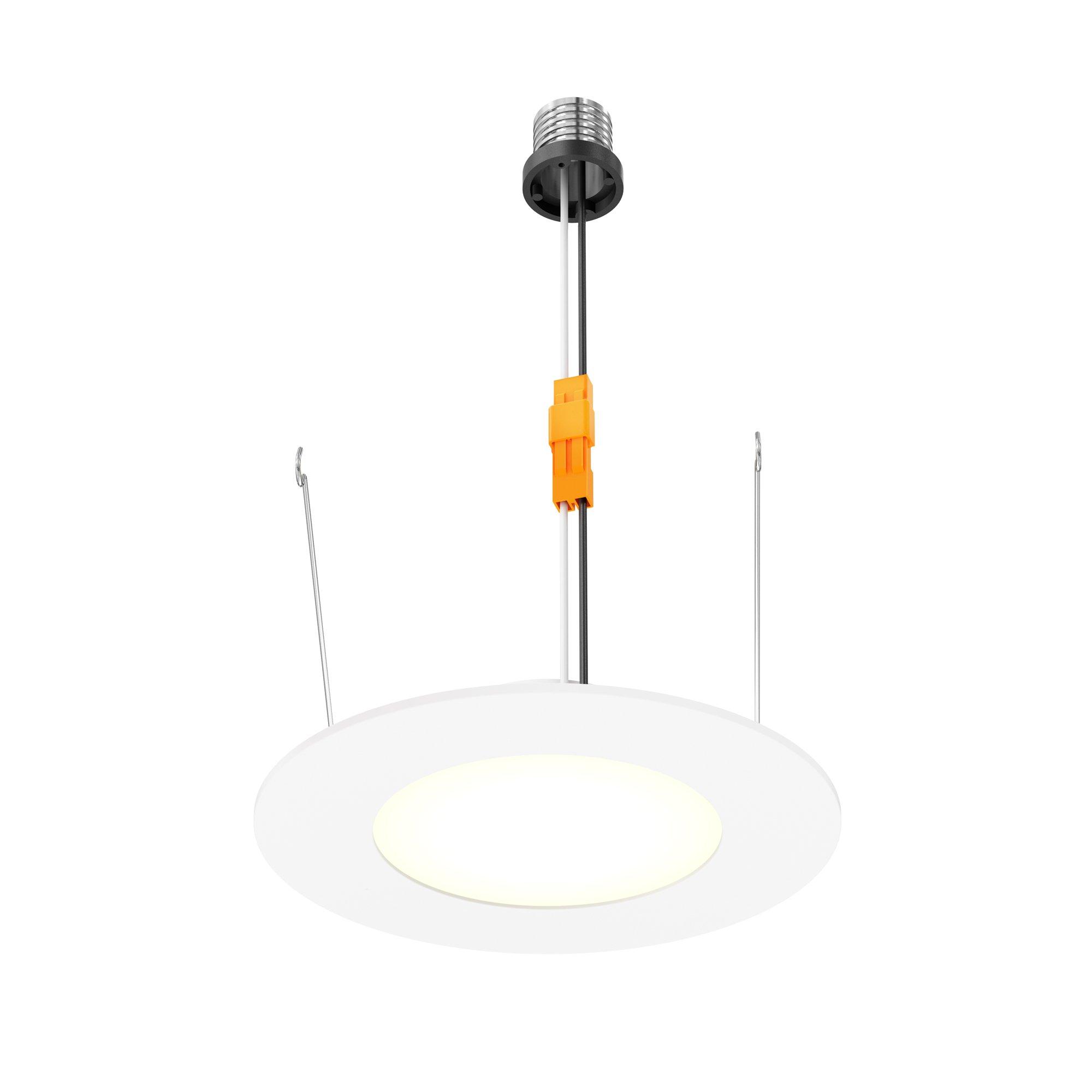 DALS Lighting LEDPNLRTF56-WH 6'' Round Retrofit LED Recess Panel, White