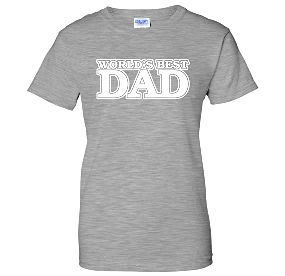 ac9c3790a Amazon.com: World's Best Dad Classic Father's Day Womens T-Shirt ...