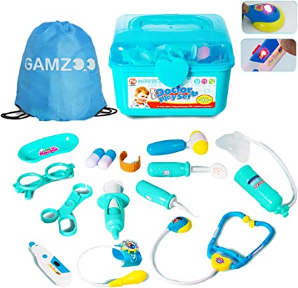 Amazon.com: GAMZOO Doctor Kit for Kids-Pretend Play Toy for 3,4,5 Year Old Boys and Girls Birthday Gift,Medical Set Playset with Electronic Stethoscope,Light & Sounds for Age 3-6: Toys & Games