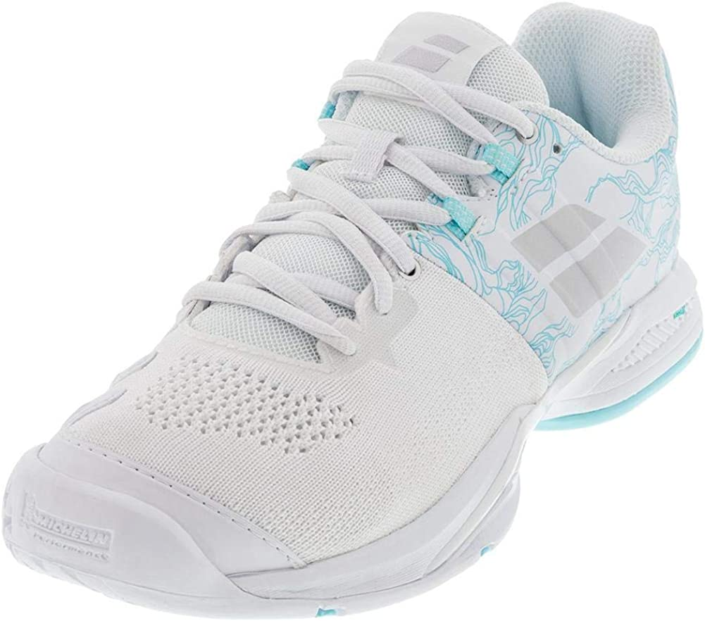 Babolat Propulse Blast AC Women, Scarpe da Tennis Donna White Blue Stream