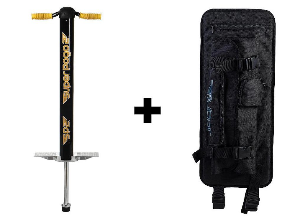 Flybar Super Pogo 2 & Pogo Backpack Carrier - Black/Yellow by Flybar