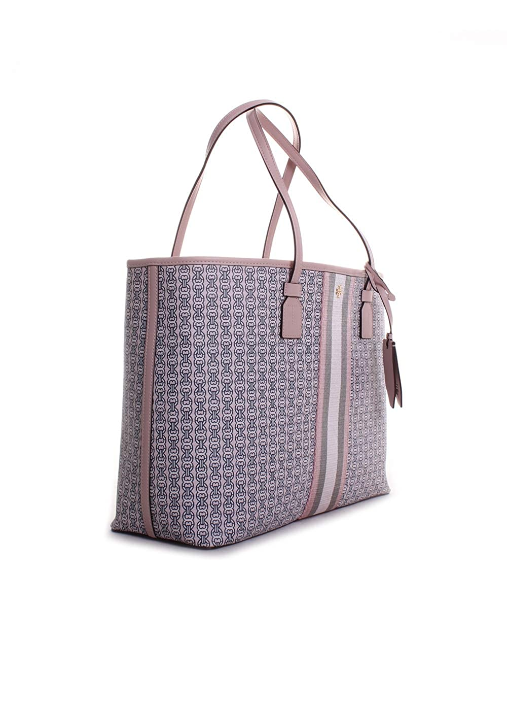 831934bff976 Amazon.com  Tory Burch Gemini Link Canvas Tote in Pink Coastal  Clothing