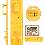 Picture Hanging Tool with Level Photo Frame Hanger Leveler Tools Picture Frame Ruler for Marking Position Easy Frame Hanger W