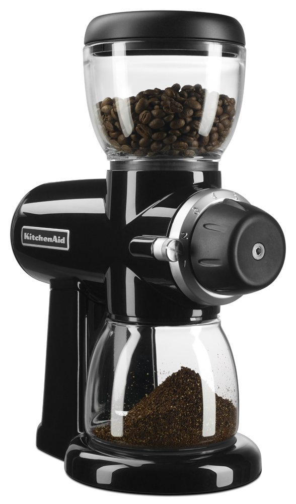 KitchenAid KCG0702OB Burr Coffee Grinder, Onyx Black