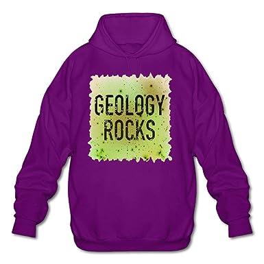 Mens Long Sleeve Cotton Hoodie Geology Rocks Sweatshirt