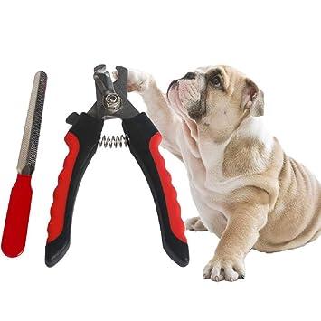 Cortauñas para mascotas para animales pequeños - Cortauñas para gatos y cortauñas con lima uñas gratis - Manijas antideslizantes resistentes - Cuchillas ...