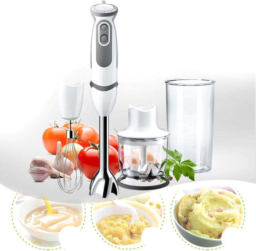 Minipimer 600 W, Batidora de mano con 4 accesorios, Batidor de huevo, minipicadora 350ml, varillas, vaso medidor 600ml, 21 velocidad licuadora de inmersión: Amazon.es: Hogar