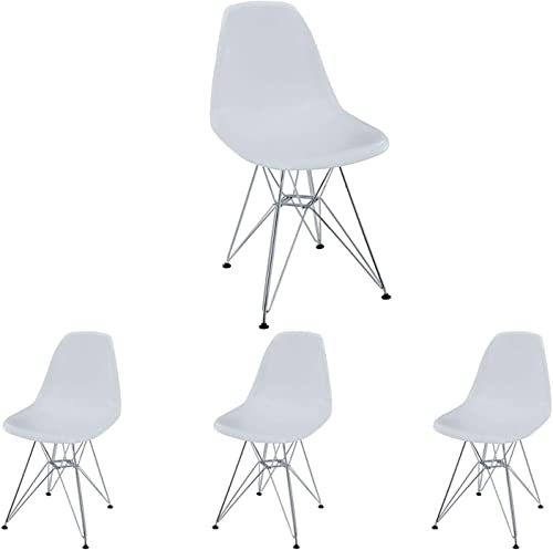 Plastic Dining Chair Modern Mid-Century Side Chair