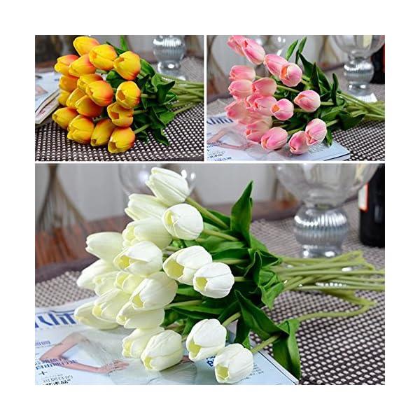YJYDADA-10pcs-Tulip-Artificial-Flower-Latex-Real-Touch-Bridal-Wedding-Bouquet-Home-Decor