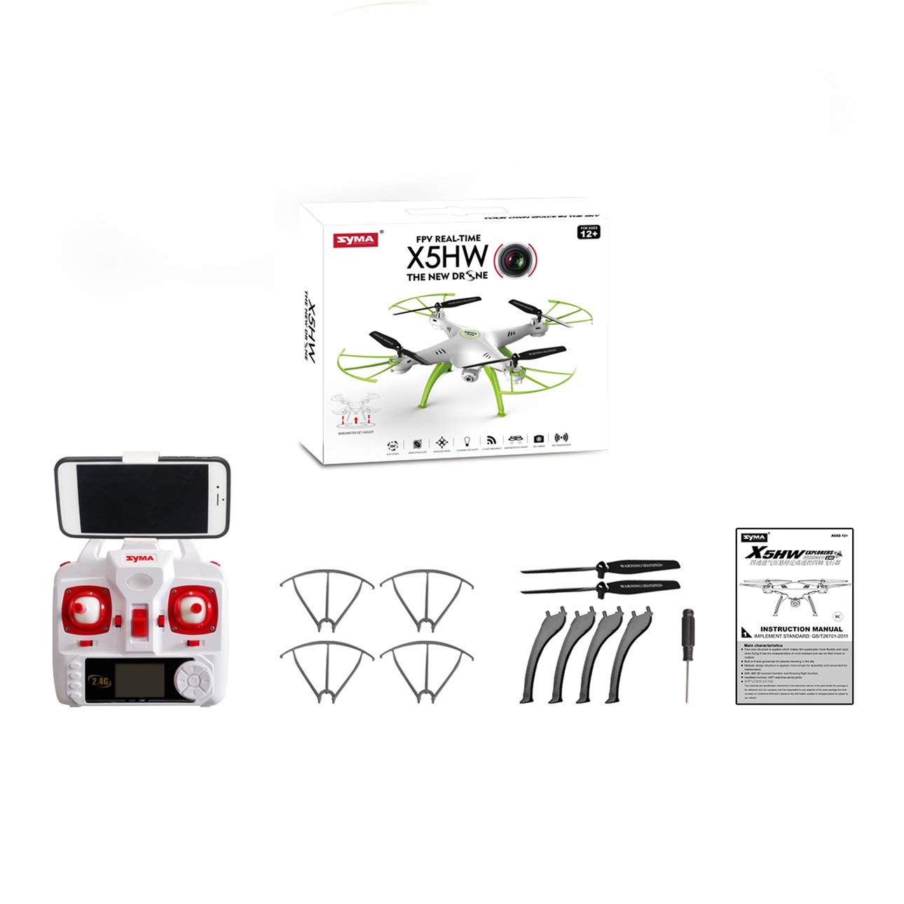 Liobaba Mini Quadcopter Four Axis Aircraft Outdoor Electric Toy Gift Kids White
