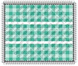 Garden Party Gingham Celebration Birthday Mother's Day Tea Party Cake Borders Designer Prints Edible Image Cake Decoration