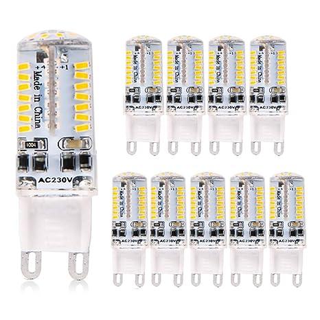 ELINKUME Paquete de 10 Lámparas LED G9 blanco frío, reemplazo de 3.5W para lámparas