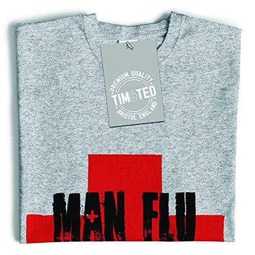 Man Flu Survivor novità Graphic slogan stampato design divertente scherzo T-Shirt Da Donna