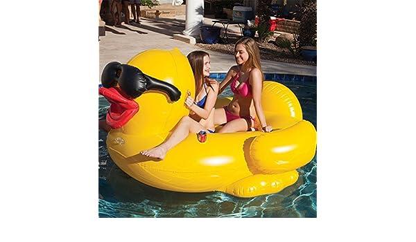 TGDY Flotador Poo Inflable, Pato Grande Amarillo Flotador Gigante Piscina Unicornio, Balsa Inflable TG Tumbonas para Piscina De Verano Flotadores Y Tumbonas ...