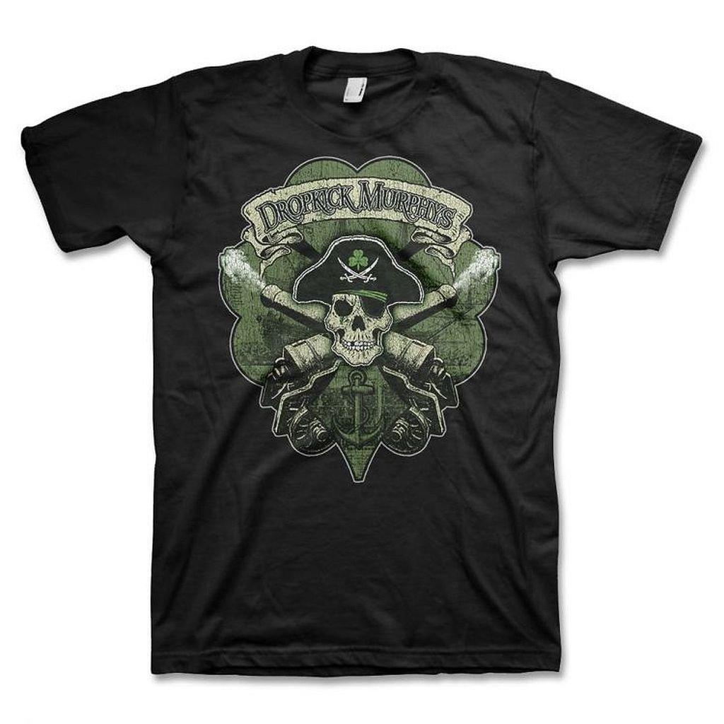 Dropkick Murphys Skull Cannon Men's Black T-Shirt Kings Road